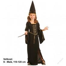 Dětský karnevalový kostým ČARODĚJNICE BRUNDIMÍRA 110 - 120cm ( 4 - 6 let )